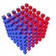 Well-organized located group of cubes — Foto de Stock