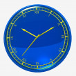 Dark blue wall clock — Stock Photo