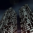 Stock Photo: Nightly skyscrapers