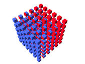 Well-organized located group of cubes — Stock Photo