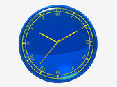 Dark blue wall clock — Stock Photo