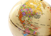 Globe with the image of the USA Canada and Mexico — Stock Photo