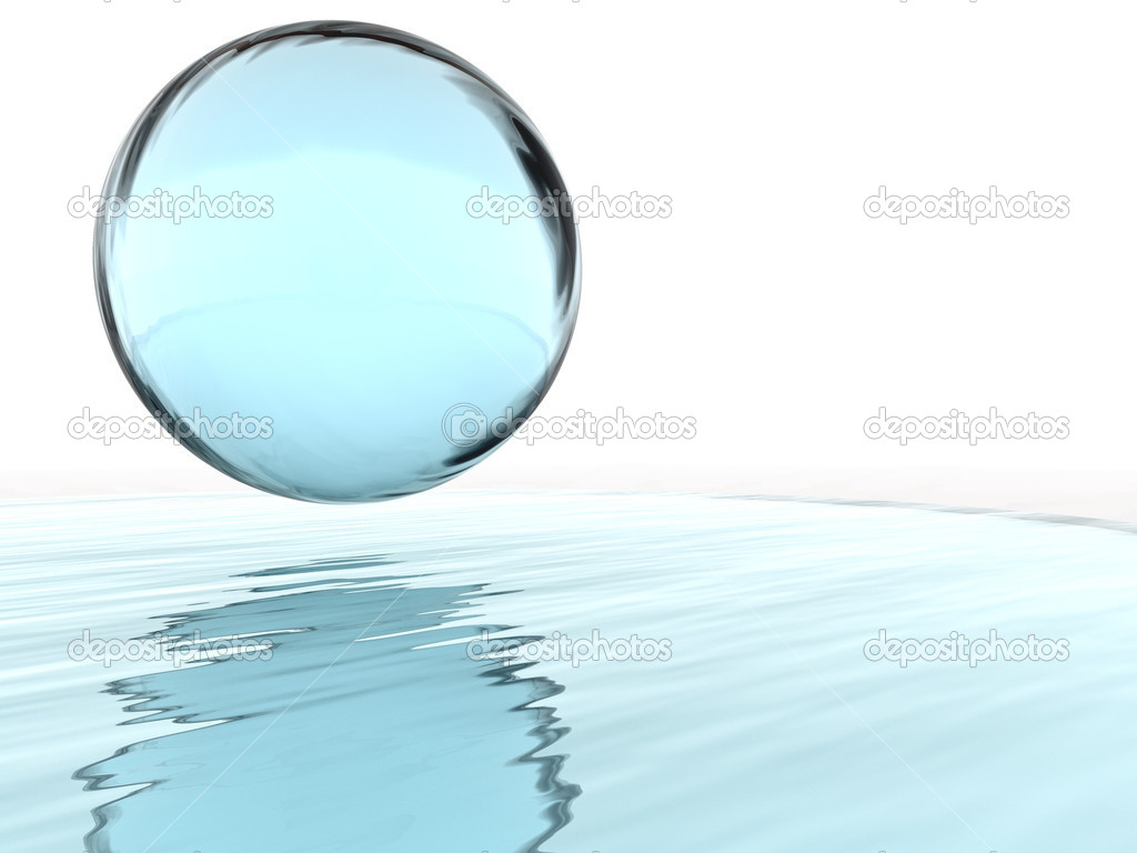 Abstract liquid ball and their reflections — Stock Photo #6122249