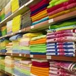 Varicoloured towels — Stock Photo