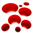 Abstract red holes - Stock Photo