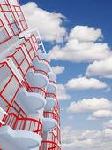 High modern residential building — Zdjęcie stockowe