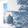 Royalty-Free Stock Photo: Blue christmas ball