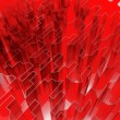 Red glass acute — Stock Photo
