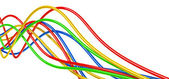 Fibre-optical varicolored cables — Stock Photo