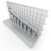 Gray columns of diagram — ストック写真