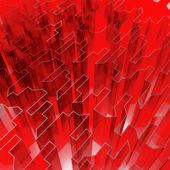 Aguda de vidro vermelho — Foto Stock