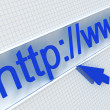 Url in address — Stock Photo #6549773