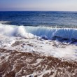 Foamy shore blue waves — Stock Photo #6549798