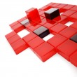 Abstract red and dark glass cubes — Stock Photo