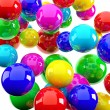 Bright red blue yellow spheres — Stock Photo #6549873