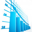 Blue columns of diagram — Stock Photo