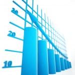 Blue columns of diagram — Stock Photo #6549879