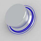 シンプルな銀金属ボタン — ストック写真