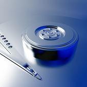 Model kovových desek — Stock fotografie