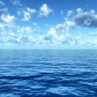 Cloudy blue sky of the sea — Stock Photo