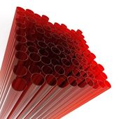 Abstract glass tubes — Stock Photo
