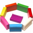 Bright plasticines bars — Stock Photo #6629700