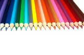Set of crayons on — Stock Photo