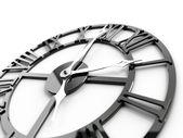 Old dark metallic clock — Stock Photo