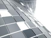 Gray metallic cubes — Stock Photo