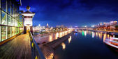 Night Moscow. Moscow River. — Stock Photo