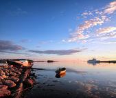 Ebb. The White Sea, Korelia, Northern Russia. — Stock Photo
