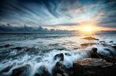 Tramonto al mare. — Foto Stock