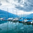 Boats on Lake Thun. - Stock Photo