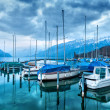 Stock Photo: Boats on Lake Thun.