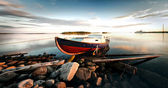 The boat on the shore. — Stock Photo