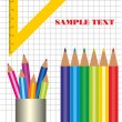 School set with crayons — Stock Vector #5392603