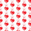 Romantic background from hearts — Stock Vector #5401175