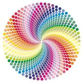 Rainbow vortex vector background. — Stock Vector