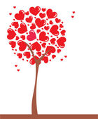 Art tree. Heart — Stock Vector