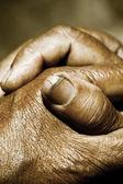 Mãos reza — Fotografia Stock