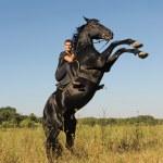 Rearing horse — Stock Photo #6064278