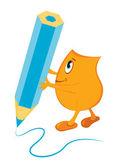 Blinky writing — Stock Vector