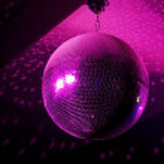 Pink disco ball — Stock Photo