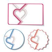 Heart stickers — 图库矢量图片
