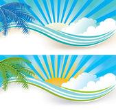 Summer banners — Vetor de Stock