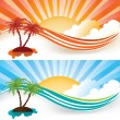 Summer banners — Stock Vector #5920952