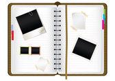 Scrapbook diary — Stock Vector