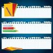 Back to School paper banners - Stock Vector