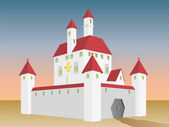 Fairy tale castle — Stock Vector