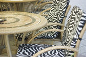 Round tables and chairs — Stock Photo